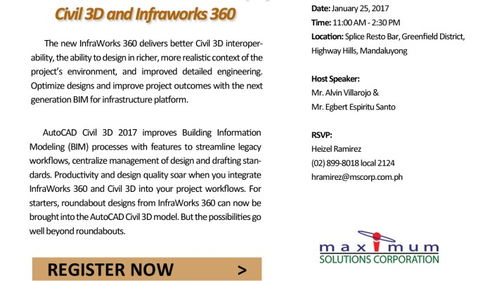 BIMagination_Autodesk Civil 3D and Infraworks 360 Event